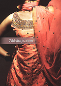 Rust Jamawar Zarri Suit- Pakistani Party Wear Dress