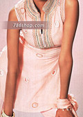 Light Pink Chiffon Trouser Suit- Pakistani Party Wear Dress