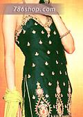 Bottle Green Silk Suit- Pakistani Party Wear Dress