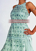 Light Sea Green Silk Suit- Pakistani Formal Designer Dress