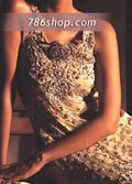 Light Golden Crinkle Chiffon Trouser Suit- Pakistani Party Wear Dress