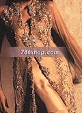 Golden Schmooze Silk Suit- Pakistani Formal Designer Dress