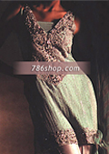 Sea Green/Silver Crinkle Chiffon Suit