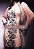 Fawn/Blue Chiffon Suit- Pakistani Party Wear Dress