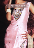 Light Pink Silk Trouser Suit- Pakistani Formal Designer Dress