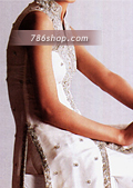 White Silk Trouser Suit- Pakistani Party Wear Dress