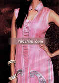 Tea Pink Silk Trouser Suit- Pakistani Party Wear Dress