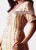 Light Golden Crinkle Chiffon Suit- Pakistani Party Wear Dress
