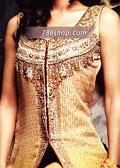 Golden Chiffon Trouser Suit- Pakistani Formal Designer Dress