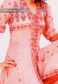 Pink Crinkle Chiffon Suit- Indian Designer Clothing