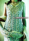 Light Green/Turquoise Chiffon Sharara