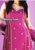 Magenta/Purple Chiffon Suit- Pakistani Party Wear Dress