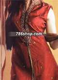 Red/Mustard Silk Suit  - Pakistani Party Wear Dress