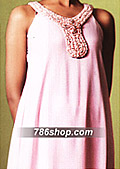 Pink Crinkle Chiffon Suit - Pakistani Formal Designer Dress