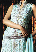 Turquoise Silk Suit - Pakistani Formal Designer Dress