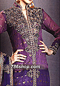 Purple Jamawar Chiffon Suit- Pakistani Formal Designer Dress