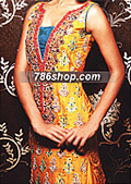 Mustard Silk Suit    - Pakistani Party Wear Dress