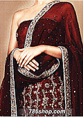 Maroon Silk Suit- Pakistani Formal Designer Dress