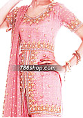 Pink Jamawar Chiffon Gharara- Pakistani Party Wear Dress