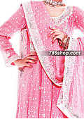 Pink Jamawar Chiffon Suit    - Pakistani Formal Designer Dress