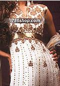 White Crinkle Chiffon Suit    - Pakistani Formal Designer Dress