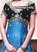 Black/Blue Chiffon Suit- Pakistani Party Wear Dress