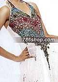 White Chiffon Suit- Pakistani Formal Designer Dress