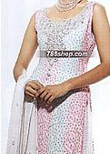 Off-White/Green Chiffon Lehnga- Pakistani Bridal Dress