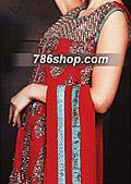 Red Chiffon Suit - Pakistani Formal Designer Dress