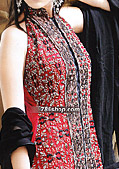 Red/Black Chiffon Suit- Pakistani Formal Designer Dress