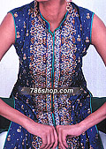 Blue/Green Silk Suit- Pakistani Party Wear Dress