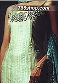 Light Green Silk Suit- Pakistani Formal Designer Dress