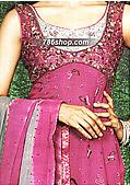 Magenta/Silver Chiffon Suit   - Pakistani Party Wear Dress