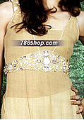 Light Golden Chiffon Suit
