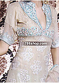 Light Golden/ Turquoise Chiffon Suit
