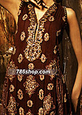 Maroon Crinkle Chiffon Suit - Pakistani Formal Designer Dress