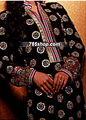 Black Crinkle Chiffon Suit - Pakistani Party Wear Dress