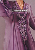Purple Crinkle Chiffon Suit - Pakistani Formal Designer Dress