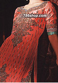 Peach/Light Green Jamawar Suit- Pakistani Party Wear Dress