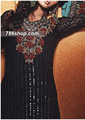 Black/Red Crinkle Chiffon Suit
