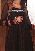 Dark Brown Chiffon Suit- Pakistani Party Wear Dress