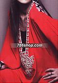 Red Schmooze Silk Suit - Pakistani Formal Designer Dress