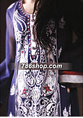 Navy Blue/Black Chiffon Suit- Pakistani Formal Designer Dress