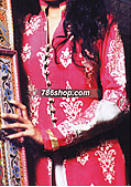 Hot Pink/Off-White Crinkle Chiffon Suit - Pakistani Party Wear Dress
