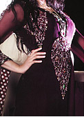 Dark Purple Crinkle Chiffon Suit- Pakistani Party Wear Dress