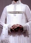 White Crinkle Chiffon Suit- Pakistani Party Wear Dress