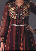 Brown Jamawar Chiffon Suit