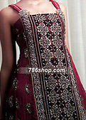 Dark Magenta Crinkle Chiffon Suit- Pakistani Formal Designer Dress