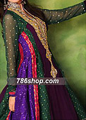 Multi Color Jamawar Chiffon Suit - Pakistani Formal Designer Dress