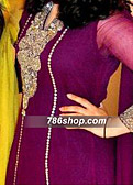Dark Purple Crinkle Chiffon Suit - Pakistani Party Wear Dress